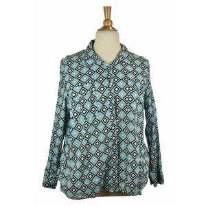MICHAEL Michael Kors Button Down Shirts 3X Blue
